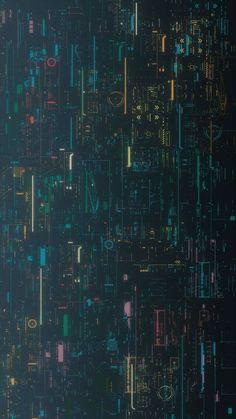 Art & Line Circuit Design Wallpaper in Blue Background
