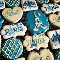 Paris theme biscuits