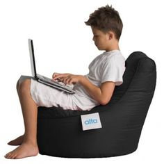 Alta Beanbag - Kiddo - Black - Milan Direct
