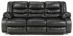 Linebacker DuraBlend - Black Reclining Sofa by Benchcraft