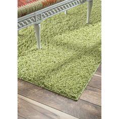 nuLOOM Plush and Soft Shag Thyme Green Rug (9' 2 x 12')
