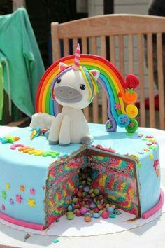 deco anniversaire enfant gateaux originaux décoration unicorn pinata cake