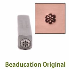 Metal Stamping Tools Daisy Flower Face 3mm Design Stamp - Beaducation Original