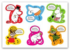 Moomin stamps from Finalnd www.moominfans.com