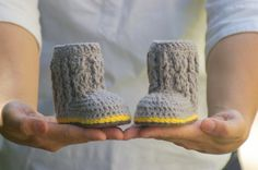 Crochet Pattern for Baby Cable Boots Pattern by TwoGirlsPatterns, $5.50