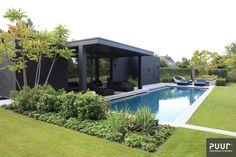 Pool House Designs, Backyard Pool Designs, Swimming Pool Designs, Pool Landscaping, Swimming Pools, Manhattan House, Modern Gazebo, Garden Cabins, Pool Lounge
