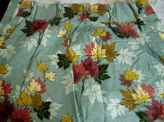 Set of Vintage 1940s Leaf Barkcloth Curtains by VintageArcanaHome, $85.00
