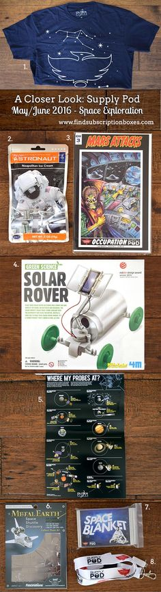June's Space Exploration Supply Pod revealed! Exclusive Phoenix Comicon goodies, solar rover kit & more. Check it out. http://www.findsubscriptionboxes.com/a-closer-look/supply-pod-june-2016-review/?utm_campaign=coschedule&utm_source=pinterest&utm_medium=Find%20Subscription%20Boxes&utm_content=Supply%20Pod%20June%202016%20Review%20-%20Space%20Exploration%20%2B%20Coupon