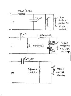 3Way Crossover Speaker Circuit Crossover Circuits and Speakers