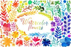 Watercolor flowers collection by Markovka on @creativemarket