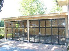 Tuyn-Room garden room with steel windows house room # steelfurniture Backyard Studio, Garden Studio, Outdoor Rooms, Outdoor Living, Diy Terrasse, Steel Windows, Marquise, Garden Office, House Windows