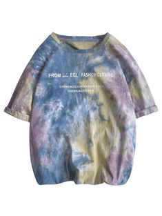 A site with wide selection of trendy fashion style women's clothing, especially swimwear in all kinds which costs at an affordable price. Tie Dye Shirts, T Shirts, Tees, Korean Fashion Casual, Trendy Fashion, How To Tie Dye, Tie Dye Outfits, Green And Grey, Short Sleeves
