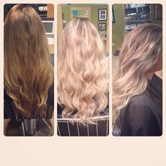 Did a combination of colour melting and balayage to brighten her hair right up with Aveda colour.