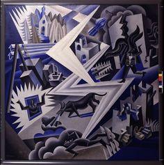 """Giacomo Balla - """"Dynamism of a dog on a lace"""" (Italian Futurism)"""