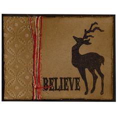 Holiday Card 55 Distress Reindeer