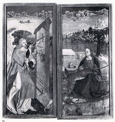 Annunciation - as the hunt of the unicorn Weimar Schlossmuseum Nr 57 - JWE D346