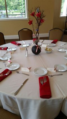 Red and black centerpiece