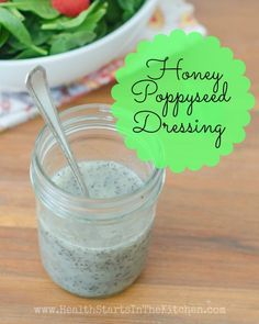 The BEST Poppyseed Dressing, and it's so good for you! Made with all natural REAL food ingredients! Uses honey instead of sugar!