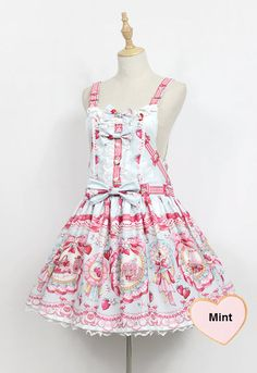 Neverland Lolita -The Rabbits' Strawberry Garden- Lolita Salopette