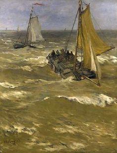 Hendrik Willem Mesdag - In de branding