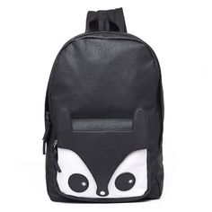 Fashion Cute Fox Black Brown Women Backpack Girls Students Schoolbag