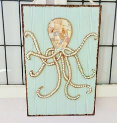Octopus Art Beach Wall Decor Coastal Mixed Media by MidorisMyMuse
