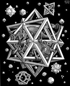 M. C. Escher, Stars, Wood Engraving, 1948