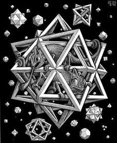 M. C. Escher, Stars, Wood Engraving, 1948