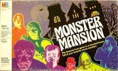 Try your luck with some of these horror and Halloween themed board games. Board game art by Scary Monsters, Famous Monsters, Retro Toys, Vintage Toys, Halloween Board Game, Treasure Hunt Games, Game Museum, Monster Toys, Mini Monster