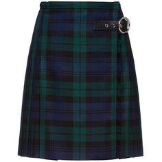 SKIRT (23.875.005 IDR) ❤ liked on Polyvore featuring skirts, faldas, plaid, long skirts, wool skirt, tartan plaid skirt, long wool skirt and knee length pleated skirt