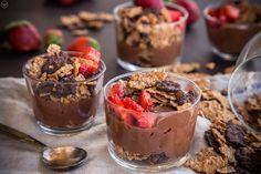 image Allrecipes, Chocolate Cake, Acai Bowl, Healthy Eating, Pudding, Yummy Food, Breakfast, Sweet, Desserts