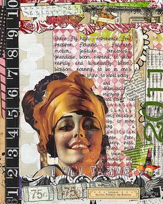 Page by Julie Ann Shahin; Supplies: (all by Studio Tangie at SBG unless noted)    Quickity Split'N Print Bundle  Quickity Split Borders 2  Hand Cut Collage Fodder: Heads  Mary Ann {Art Journaling Font}  Tweedledee{Art JOurnaling Font}  Paperworn Art Styles & BONUS Action  Font: Benny Blanco from the web