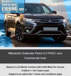 Mitsubishi Outlander Petrol 2.0 PHEV Juro Commercial Auto