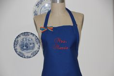 Personalized Aprons - Mrs Maria Apron -Bridesmaid Aprons . by Wheelering on Etsy
