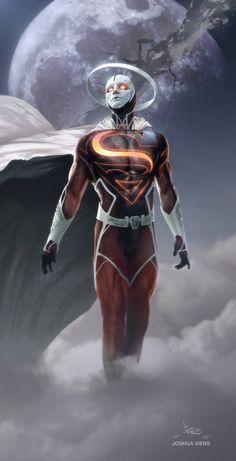 Anti Superman by Joshua Viers on ArtStation. Marvel Dc Comics, Heros Comics, Dc Comics Art, Marvel Vs, Dc Heroes, Comic Art, Comic Anime, Comic Kunst, Anime Comics