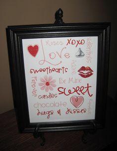 Bunch of Craft: Valentines Subway Art