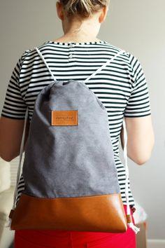 Plecak Grey Backpacks, Bags, Fashion, Handbags, Moda, Fashion Styles, Taschen, Women's Backpack, Purse