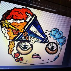 More work in progress on this snowcone head Abnormalz logo 😜🎨🍩 . . . #abnormalz #abnormalzsosweetz #creepy #strange #toyart #darkart #macabre #handmadeinaustralia #circus #freakshow #fantasy #sweets #artistic_plus24 #instagramart #magic #beautifulbizzare #artoninstagram #polymerclay #artistic_today #toys #handmadetoys #art #scifi #artoftheday #instacool #wip #instadaily #instagood #instashare #etsy
