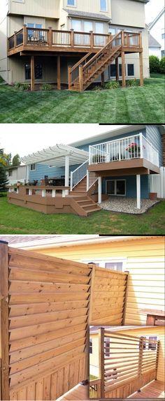 Cool Deck, Diy Deck, Cheap Diy Home Decor, Diy Home Crafts, Diy Decoration, Decor Ideas, Deck Decorating, Project Ideas, Projects