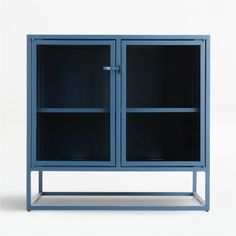 Sale ends soon. Designed by Paul Schulman of Schulman Design, the small sideboard's narrow silhouette allows for maximum storage. Adjustable shelving invites you to showcase prized pieces. Narrow Sideboard, Metal Sideboard, Credenza, Vinyl Record Storage, Locker Storage, Lp Storage, Unique Furniture, Custom Furniture, King Furniture