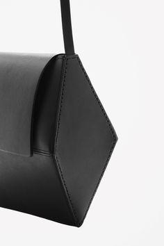 Geometric leather bag