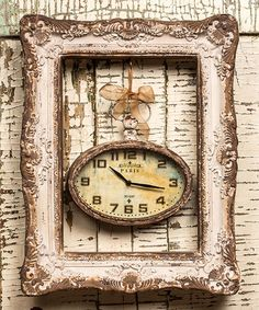 Another great find on #zulily! Frame & 'Paris' Wall Clock #zulilyfinds