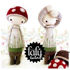 "HÄKELANLEITUNG Puppe ""PAUL der Fliegenpilz"" von lalylala - handmade auf DaWanda.com"