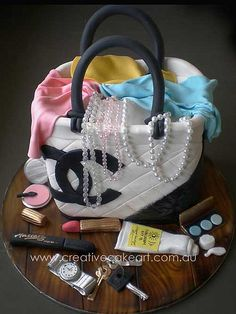 creative cake art handbags and shoes (20)