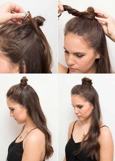 Come creare un mini chignon in base alla lunghezza e al tipo di capelli