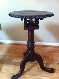 Antique Tilt Top Table Pedestal Consoles Woodworking Console Tables