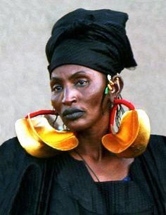 manufactoriel:  Boucles d'oreilles Fulani