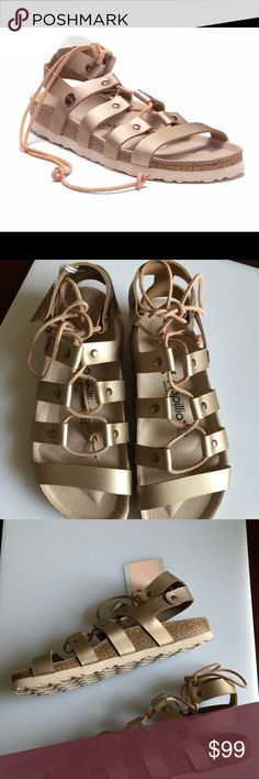 best service 1d9ad 706c6 NIB Birkenstock 38N EU 7N US Rose Gold sandals BRAND NEW WITH BOX!