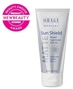Formerly named Nu-Derm Sun Shield SPF 50. A sunscreen that combines high UVB absorption and dynamic UVA blockage in an elegant, matte finish with 10.5% zinc oxide and 7.5% octinoxate. Nonwhitening, PABA-free, and fragrance-free for all skin types. Size: 3 oz / 89 ml Self Magazine Healthy Beauty Award Winner: Best Sunscreen for Face NewBeauty Magazine Beauty Choice Award Winner: Best Skin-Care System Sold at a Doctor's Office