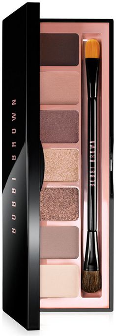 Bobbi Brown Eye Palette with soft pinks and warm roses to rich browns.